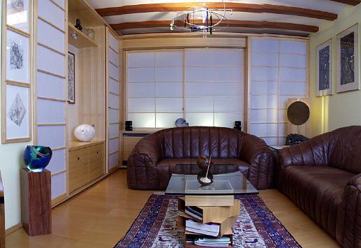 wohnen im japanischen stil. Black Bedroom Furniture Sets. Home Design Ideas
